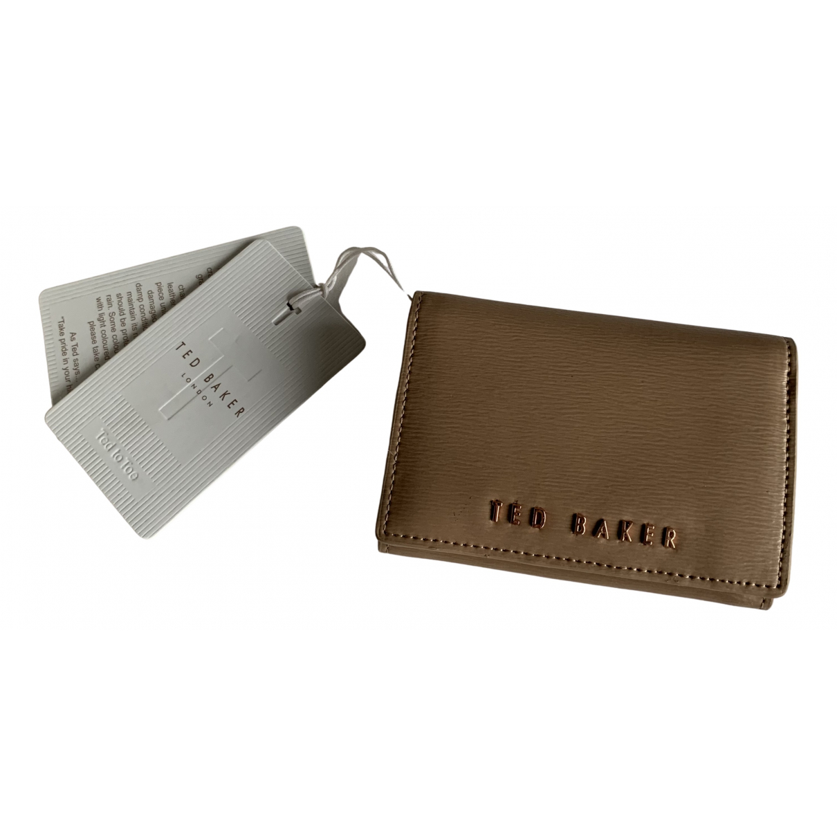 Ted Baker - Portefeuille   pour femme en cuir - marron
