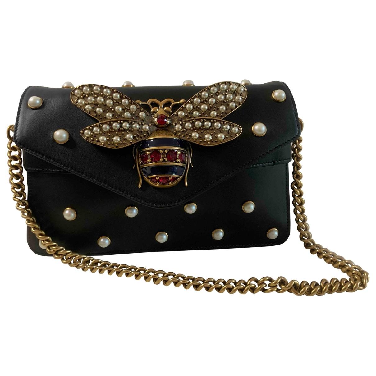 Gucci Broadway Handtasche in  Schwarz Leder