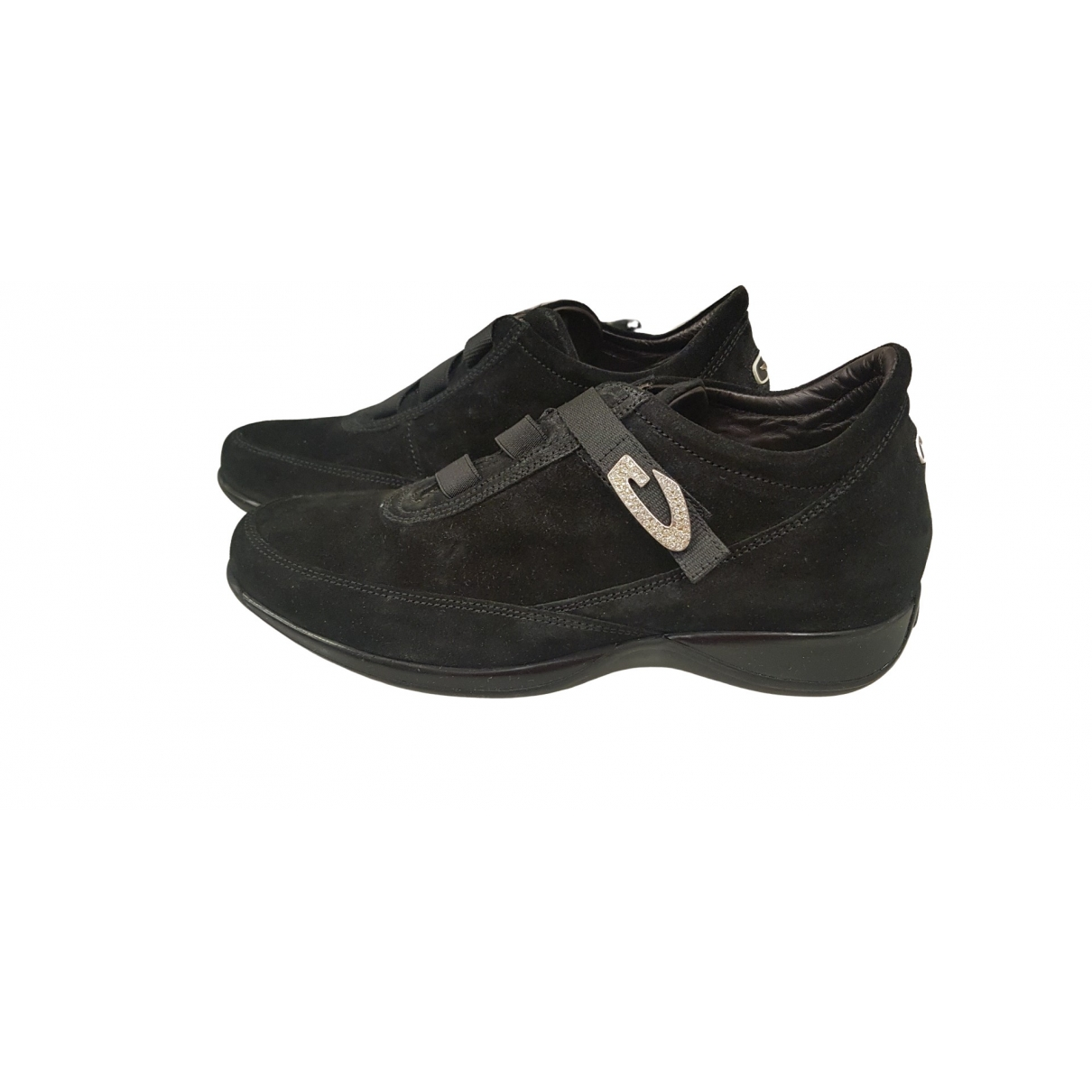 Alberto Guardiani \N Sneakers in  Schwarz Veloursleder
