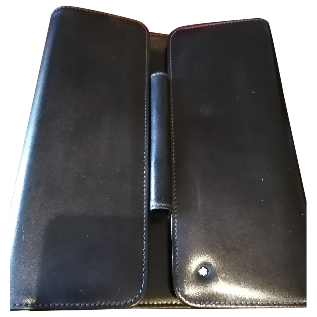 Montblanc \N Black Leather Small bag, wallet & cases for Men \N