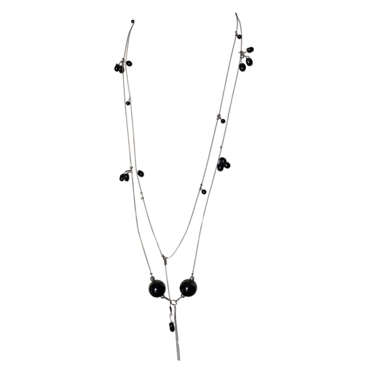 Ikks N Black Metal necklace for Women N