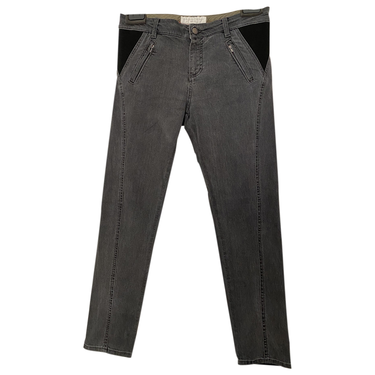 Stella Mccartney - Jean   pour femme en coton - elasthane - gris