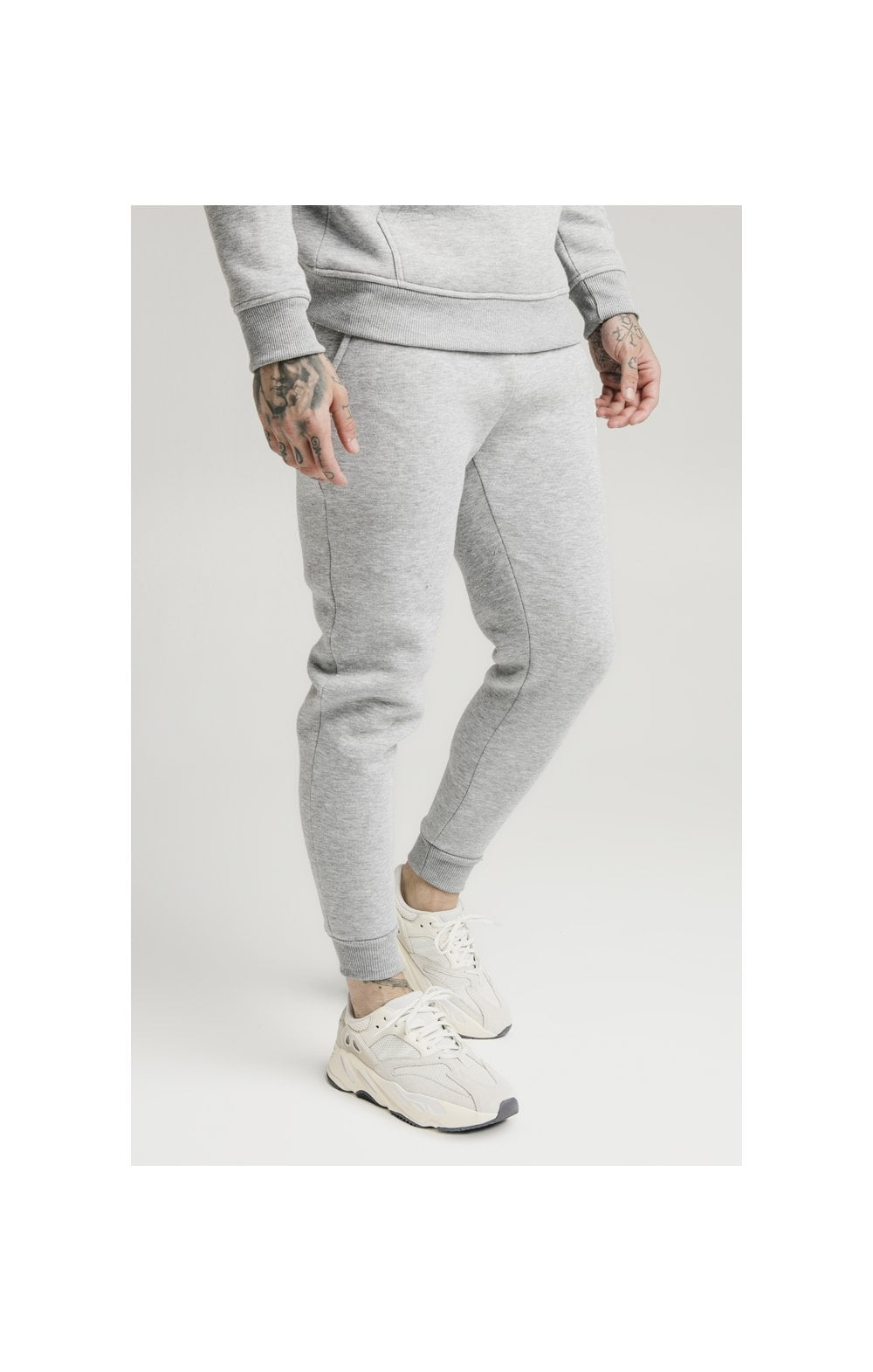 SikSilk Muscle Fit Jogger  Grey Marl MEN SIZES BOTTOM: Small 30in