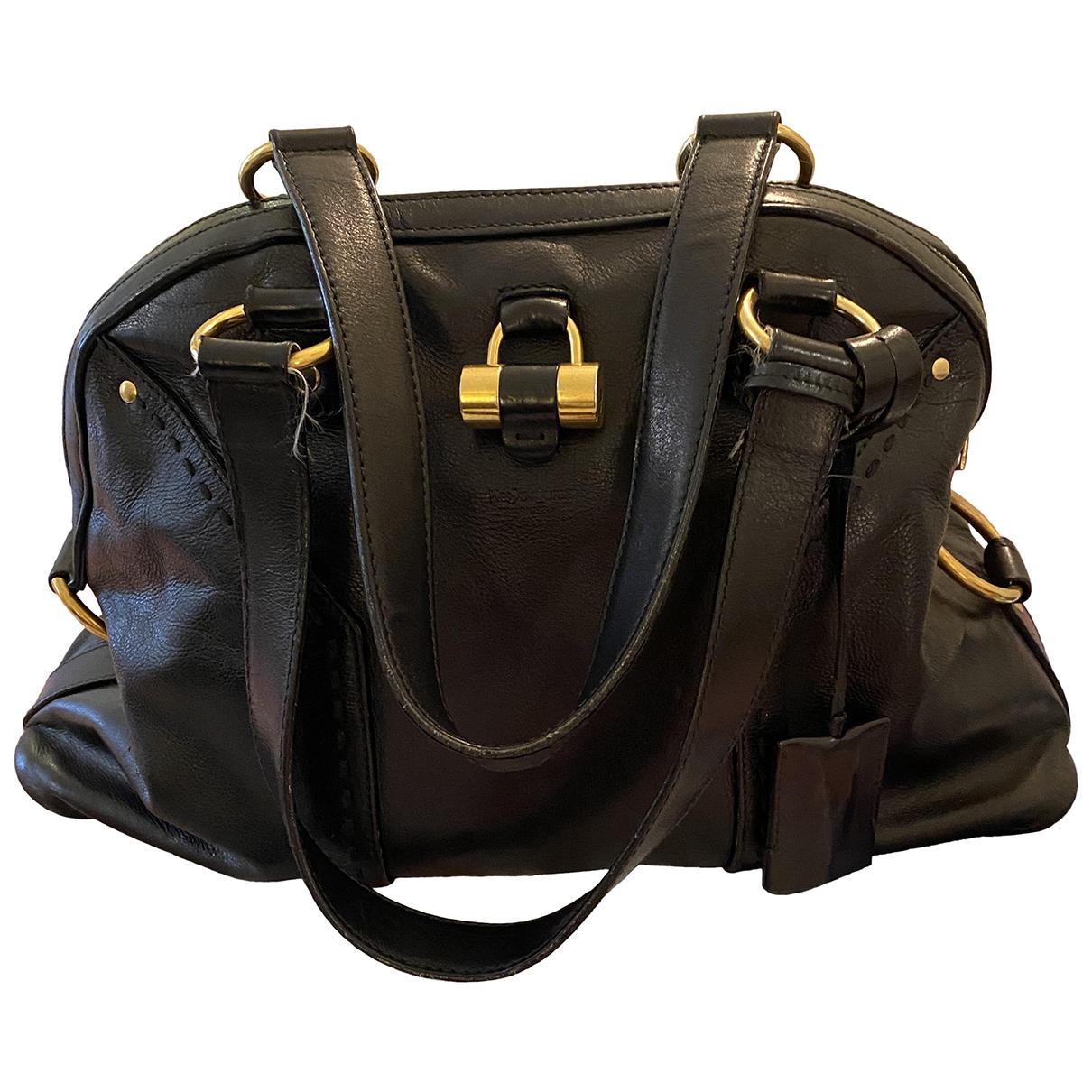 Yves Saint Laurent Muse Black Leather handbag for Women N