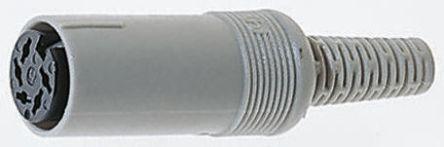 Hirschmann , MAK 5 Pole Miniature Din Socket Socket, DIN 41524, 4A, 34 V ac/dc IP30