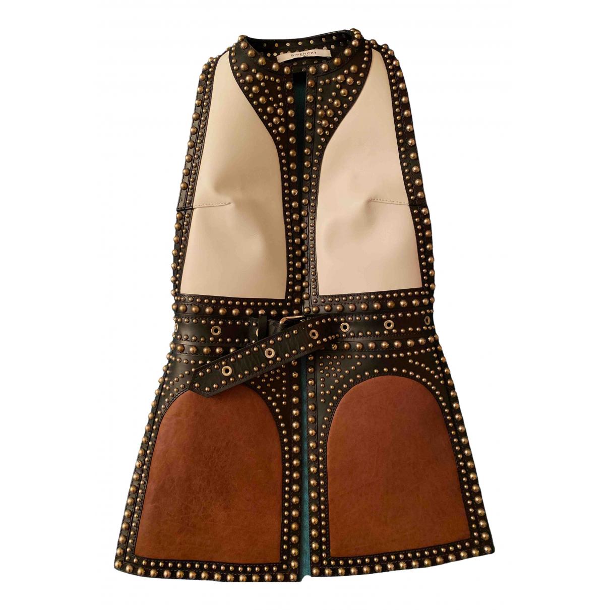 Givenchy \N Lederjacke in  Braun Leder