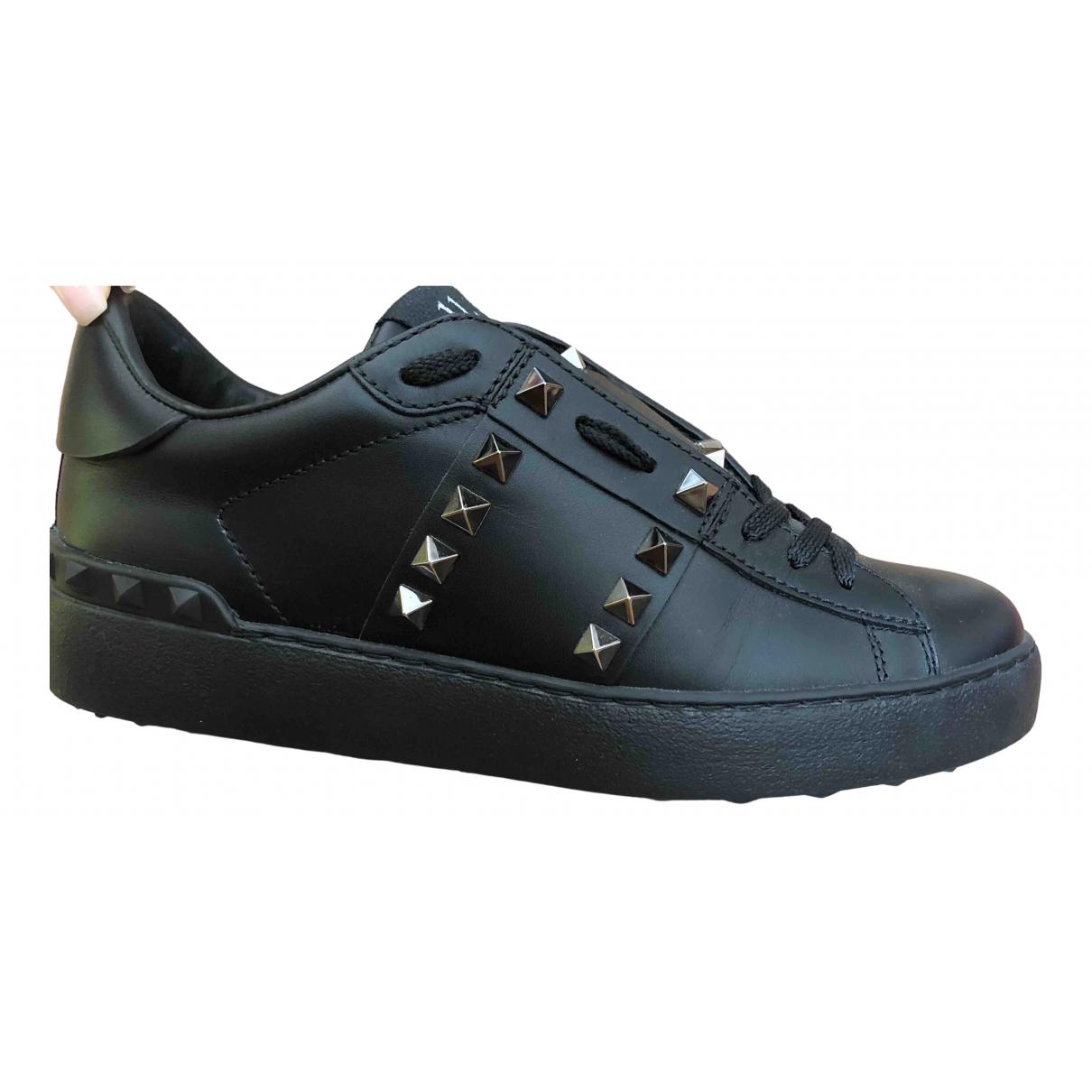 Valentino Garavani Sneakers chaussettes VLTN  Black Leather Trainers for Women 36.5 EU
