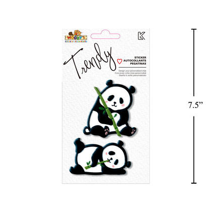 Autocollants à la mode pour panda 4