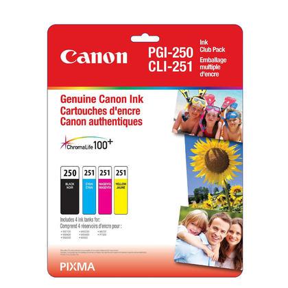 Canon PIXMA MG5670 Original Ink Cartridges PGBK/C/M/Y Combo, 4 pack - Standard Yield