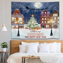 Teppich mit Weihnachtsbaum Muster
