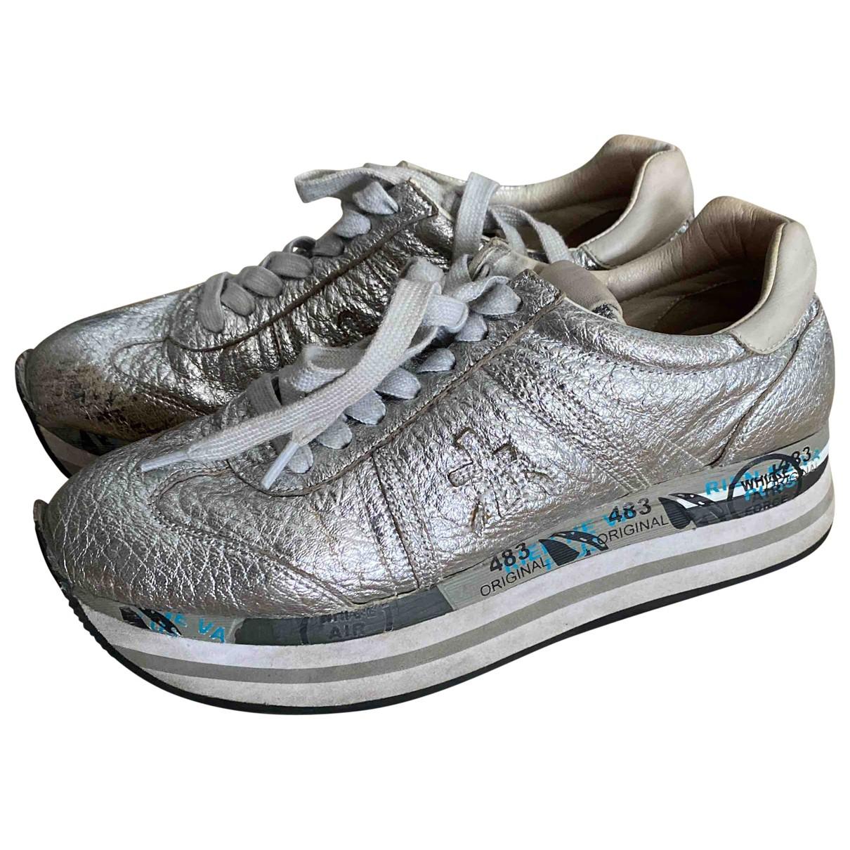 Premiata \N Sneakers in  Silber Lackleder