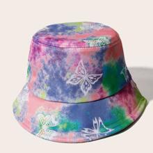 Sombrero cubo de tie dye