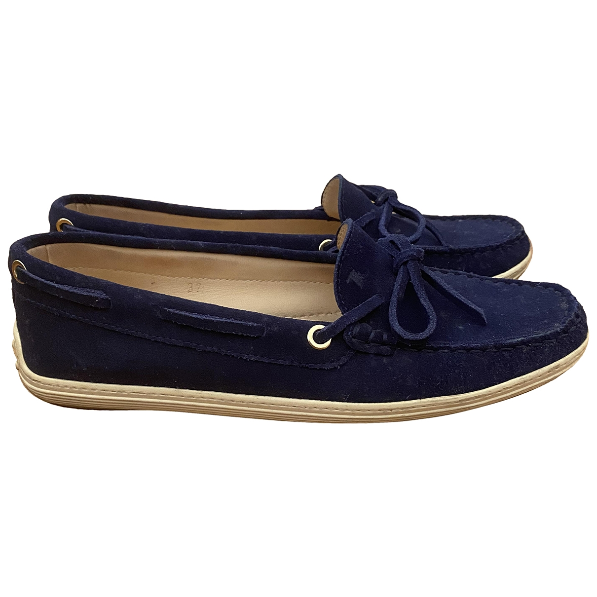 Tod's \N Blue Suede Flats for Women 37 IT