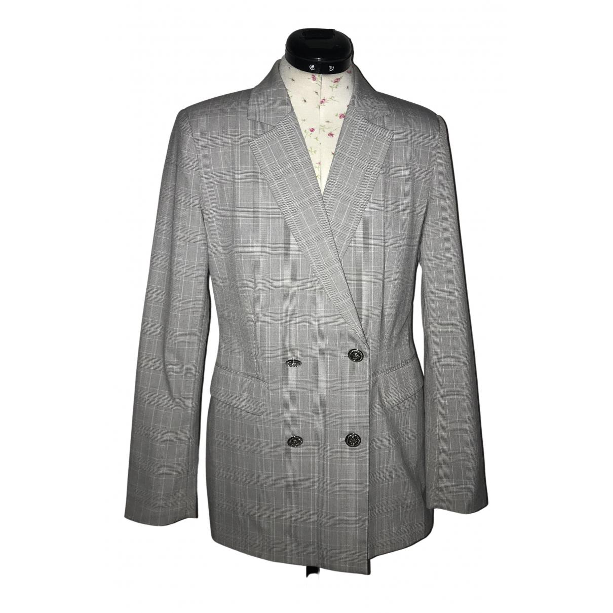 Zara \N Jacke in  Grau Polyester