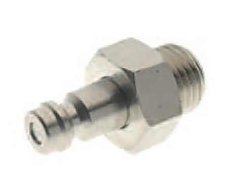 RS PRO Pneumatic Quick Connect Coupling Nickel Plated Brass 1/4in Threaded (10)