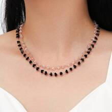 2pcs Crystal Beaded Necklace