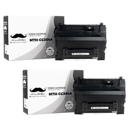Compatible HP 64A CC364A cartouche de toner noire - Moustache@ - 2/paquet