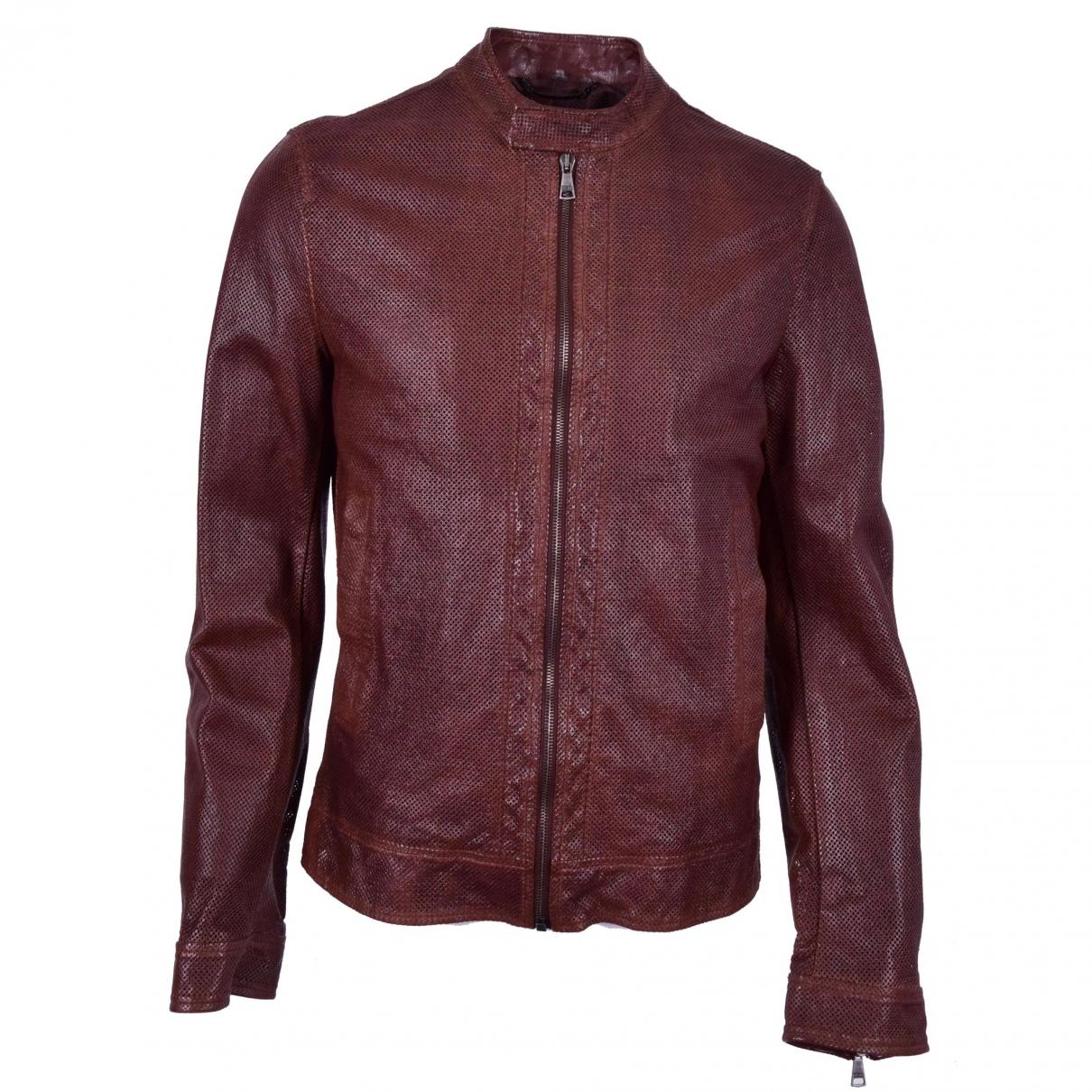 Dolce & Gabbana \N Burgundy Leather jacket  for Men 48 IT
