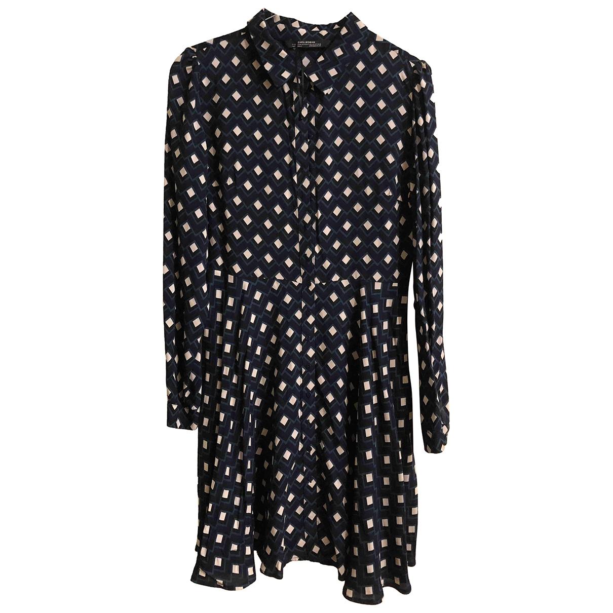 Zara \N Kleid in  Gruen Viskose