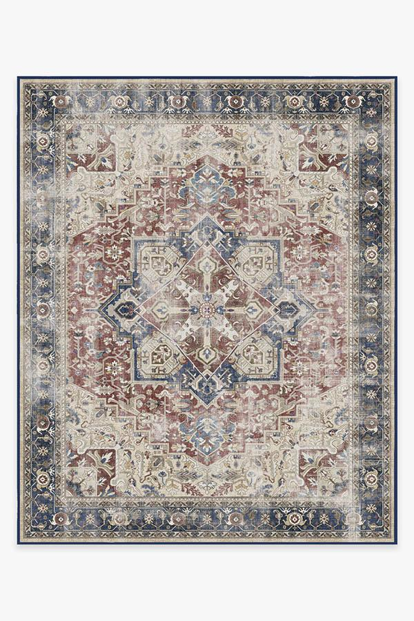 Washable Rug Cover & Pad | Kamran Royal Blue Rug | Stain-Resistant | Ruggable | 8x10