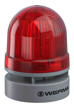 Werma EvoSIGNAL Mini Sounder Beacon Red LED, 24 V