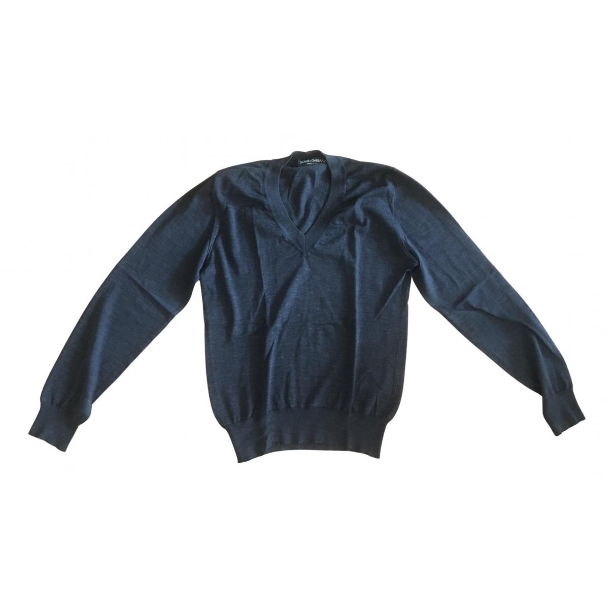 Dolce & Gabbana N Grey Wool Knitwear & Sweatshirts for Men 44 IT