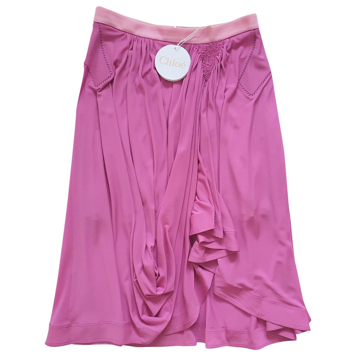 Chloé \N Pink skirt for Women 38 FR
