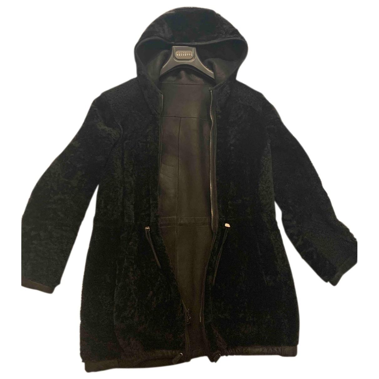 Fratelli Rossetti - Manteau   pour femme en mouton - noir