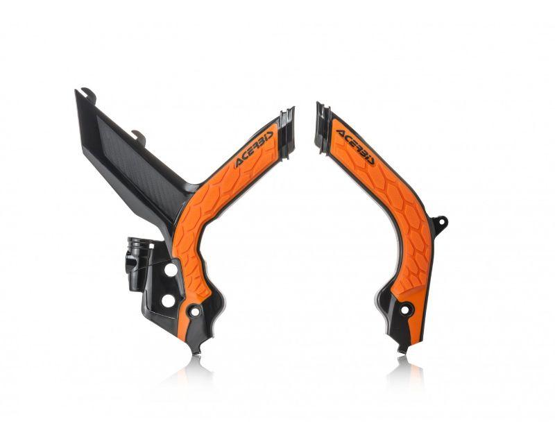 Acerbis 2783155229 X-Grip Frame Guard Black/Orange KTM XCFW350 2020