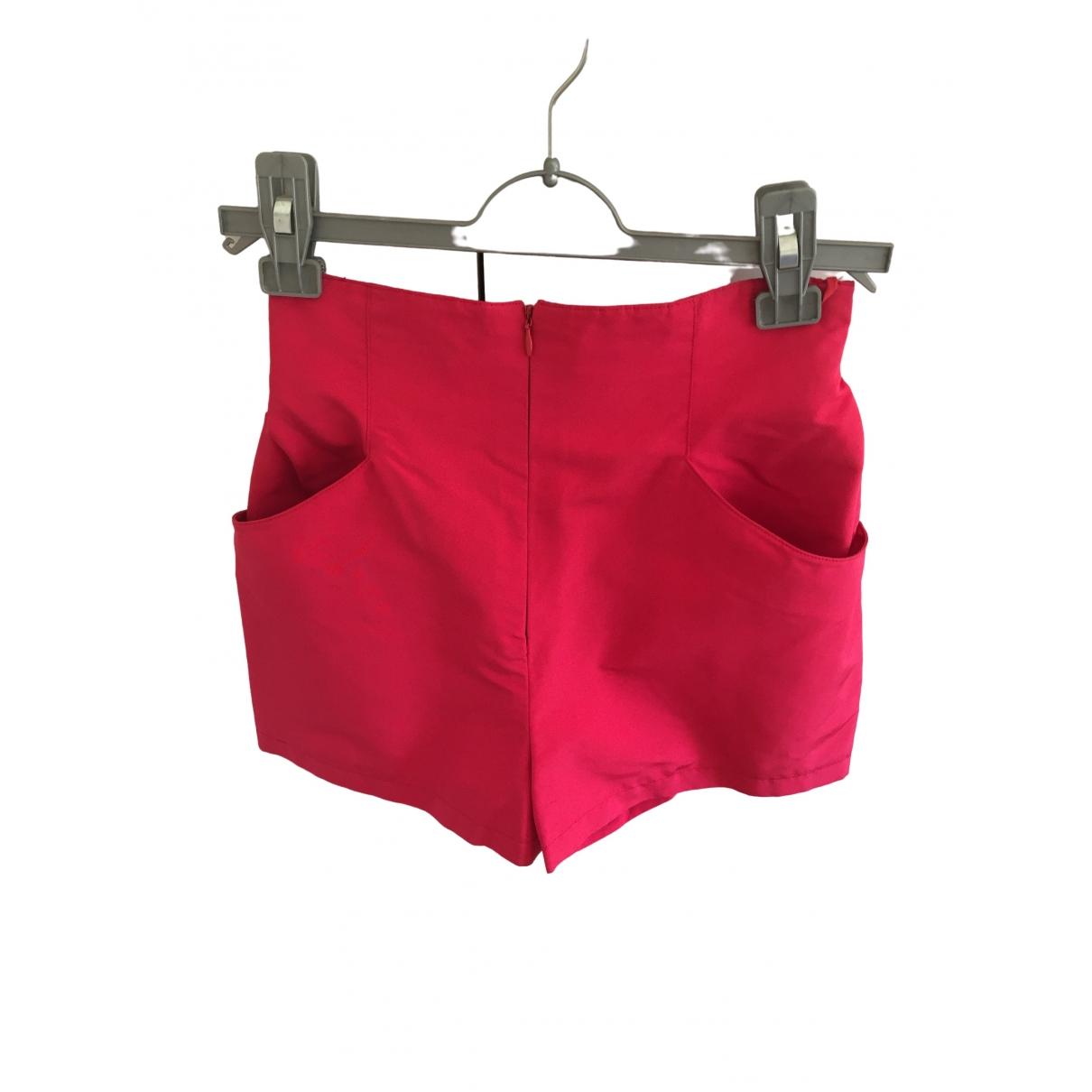 Hermes \N Shorts in  Rot Seide