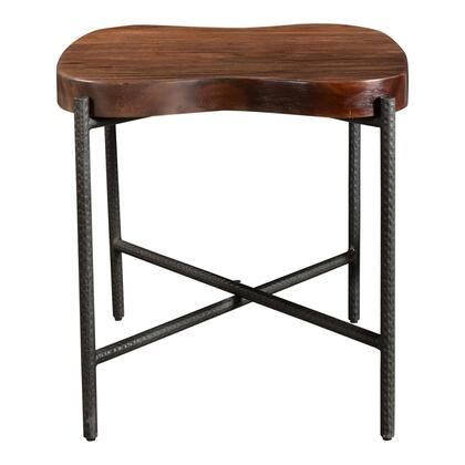 Adzuki Collection VE-1053-03 Side Table with Powder Coated Iron Base in Brown