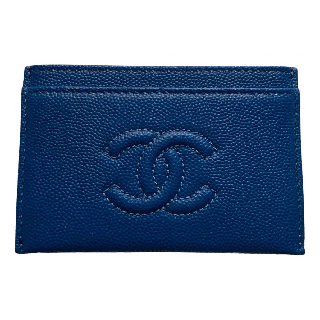Chanel \N Kleinlederwaren in  Blau Leder