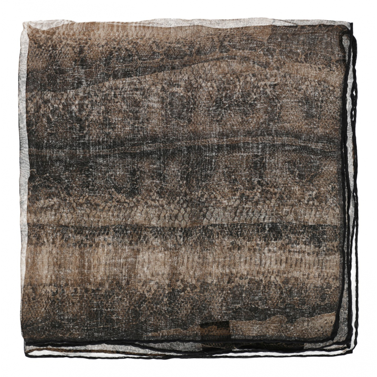 Roberto Cavalli \N Brown Silk scarf for Women \N
