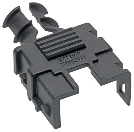 Molex Mega-Fit receptacle backshell, 2P, Black (4)