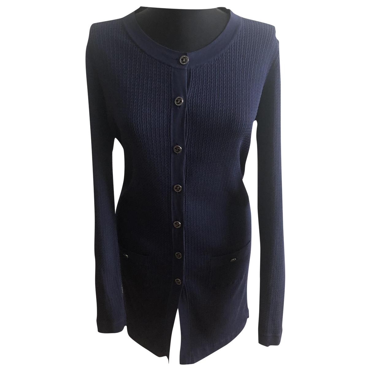 Chanel - Pull   pour femme en coton - marine
