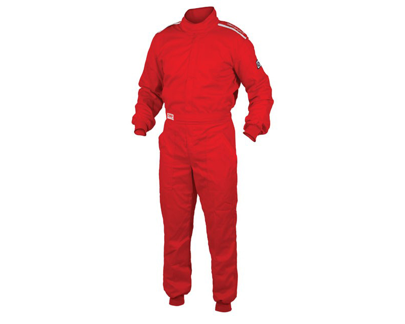 OMP OS 10 Cuff Cut Fire Retardant Racing Suit Red | XL