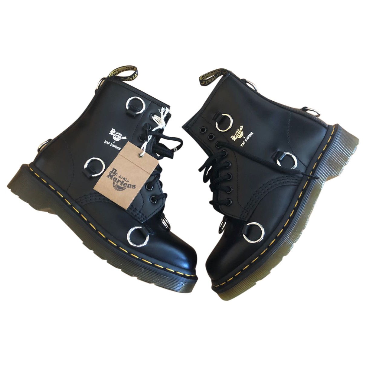 Dr. Martens 1460 Pascal (8 eye) Black Leather Boots for Women 37 EU