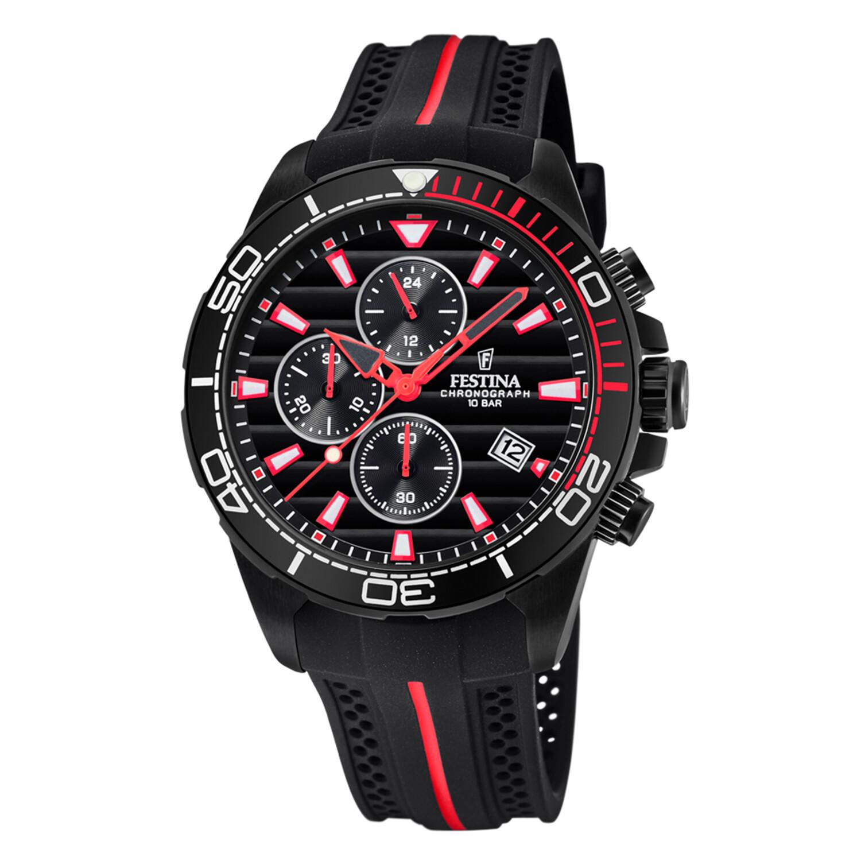 Festina Men's The Originals F20366-3F37 Black Silicone Quartz Fashion Watch