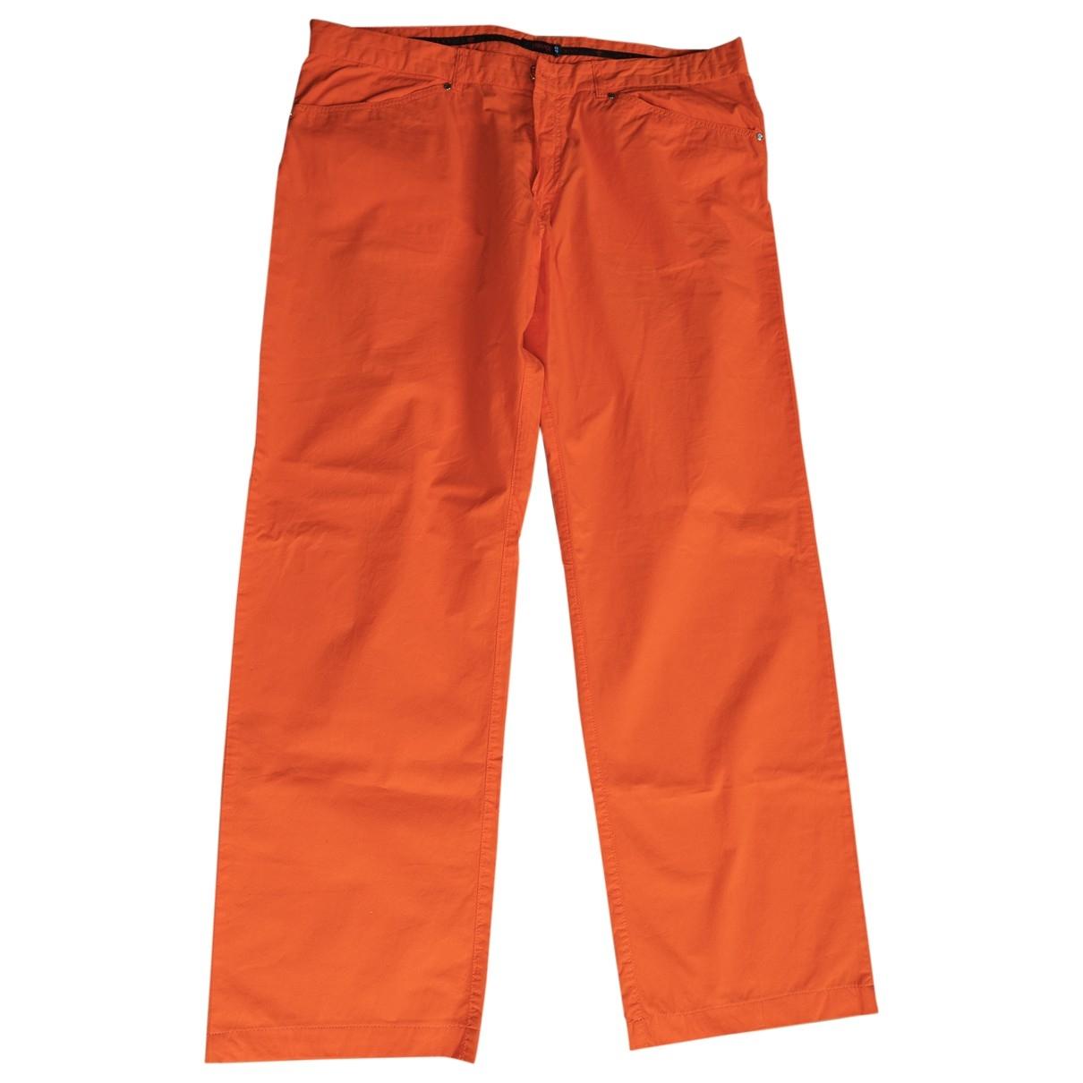 Versace \N Orange Cotton Jeans for Men 40 FR