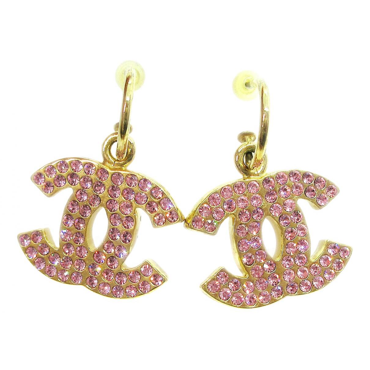 Chanel CC Metal Earrings for Women N