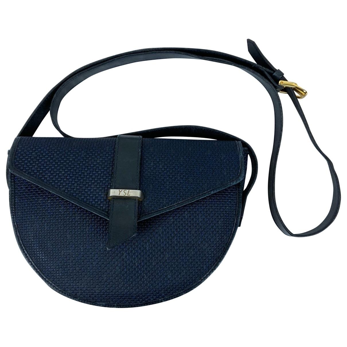 Yves Saint Laurent \N Navy Cloth handbag for Women \N