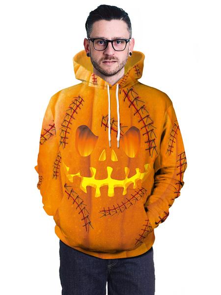 Milanoo Disfraces de Halloween Sudaderas con capucha de calabaza Disfraz de Cospaly de Halloween
