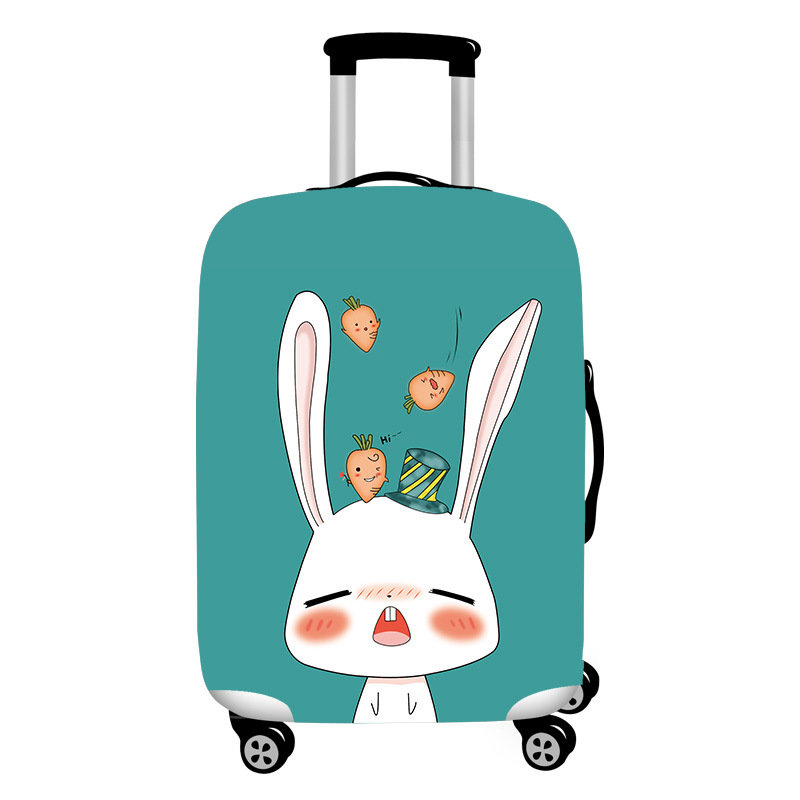 Honana Cute Cartoon Rabbit Elastic Luggage Cover Durable Suitcase Protector