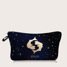 1pc Constellation Pattern Makeup Bag