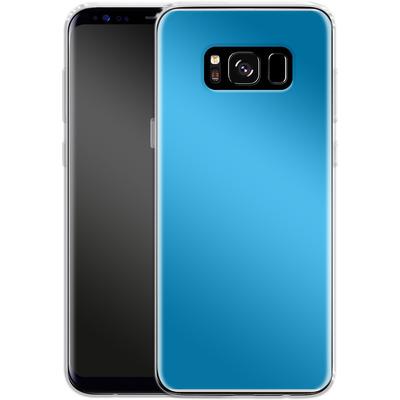 Samsung Galaxy S8 Silikon Handyhuelle - Test Cyan von caseable Designs