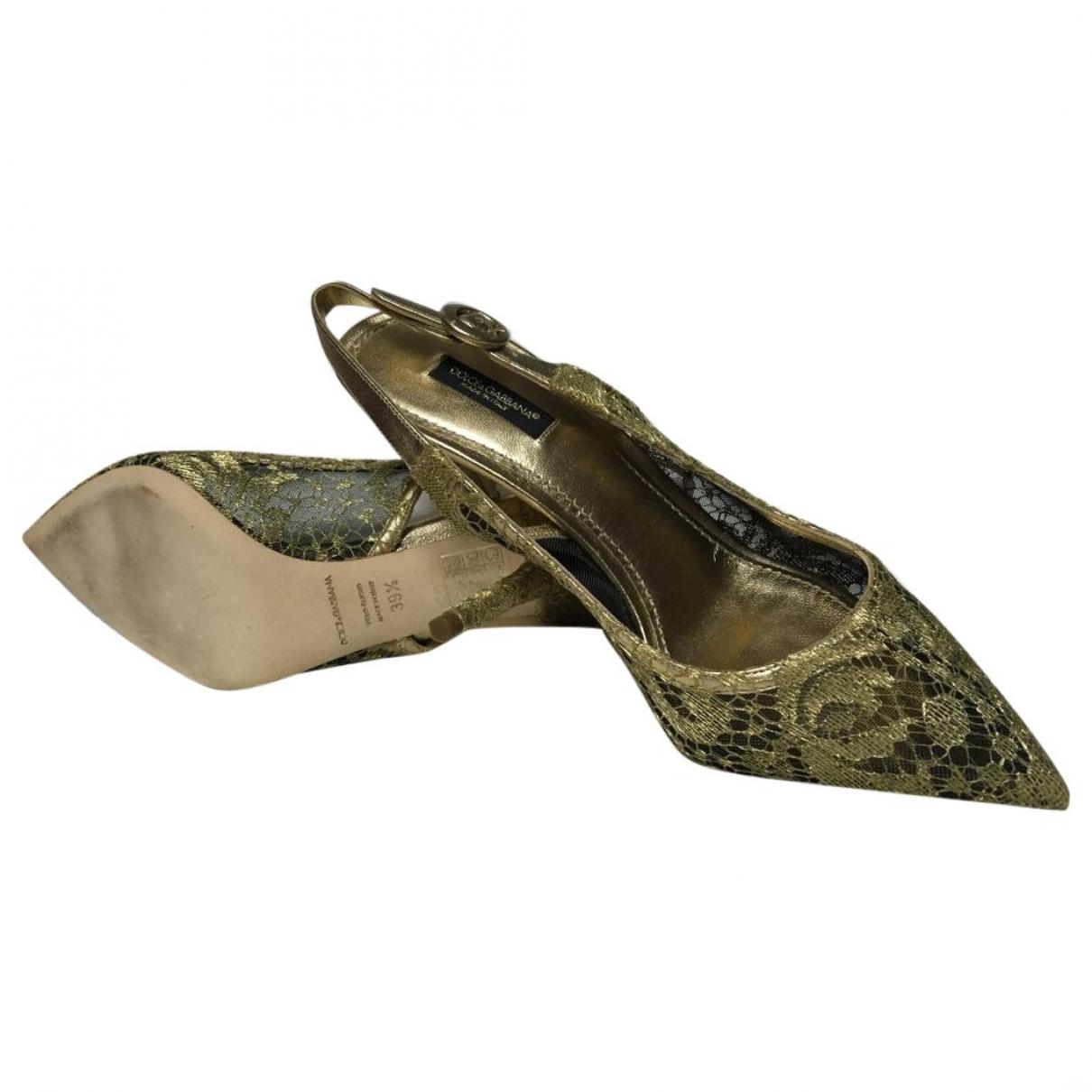 Dolce & Gabbana \N Gold Cloth Sandals for Women 39.5 EU