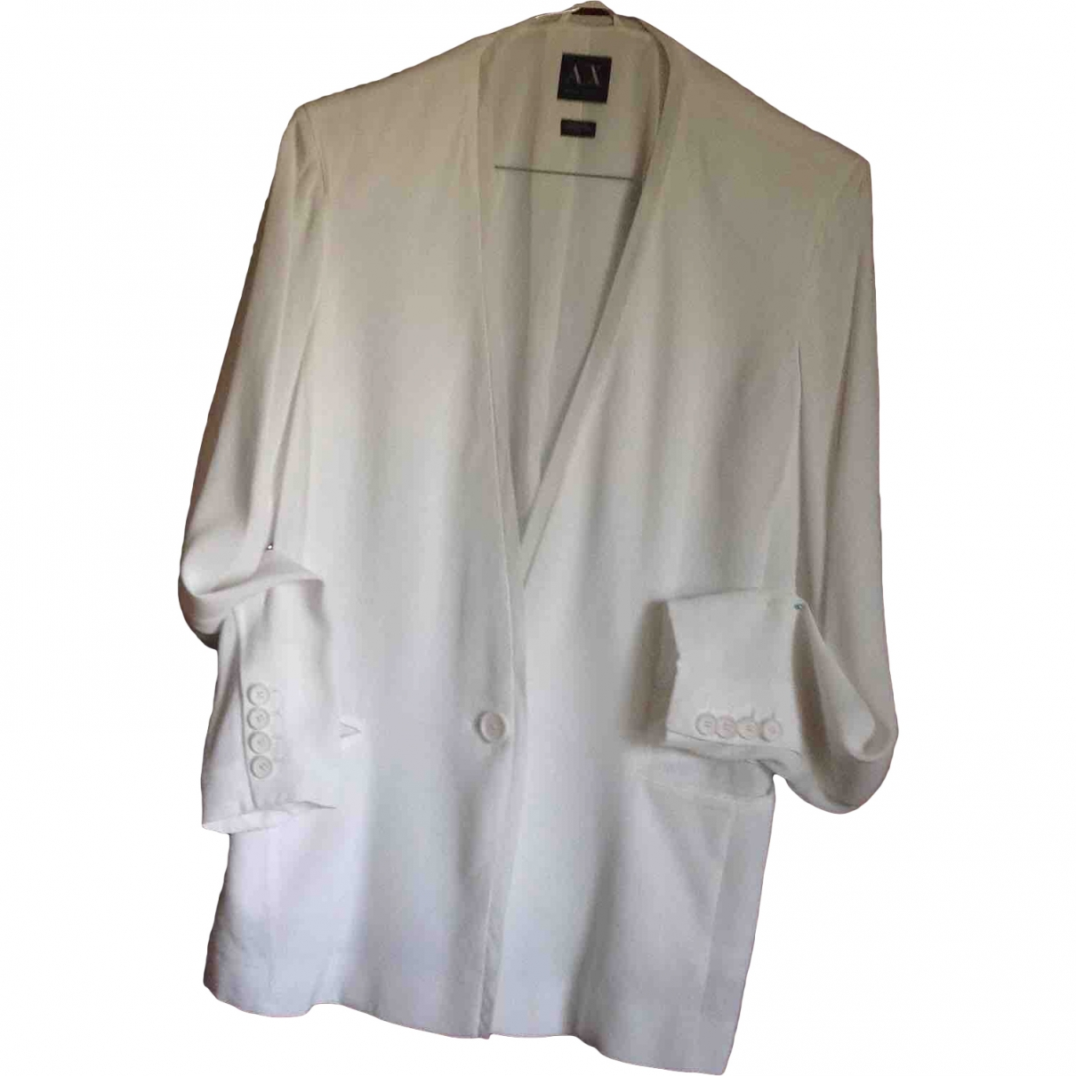 Emporio Armani \N Jacke in  Weiss Polyester