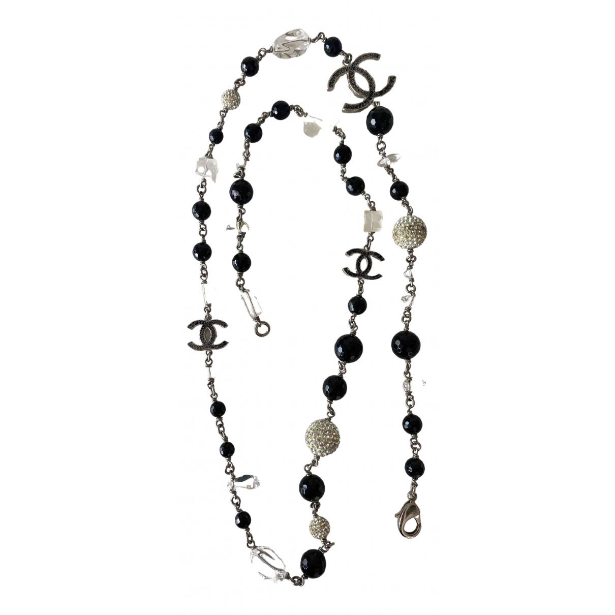 Chanel - Collier CC pour femme en perles - noir