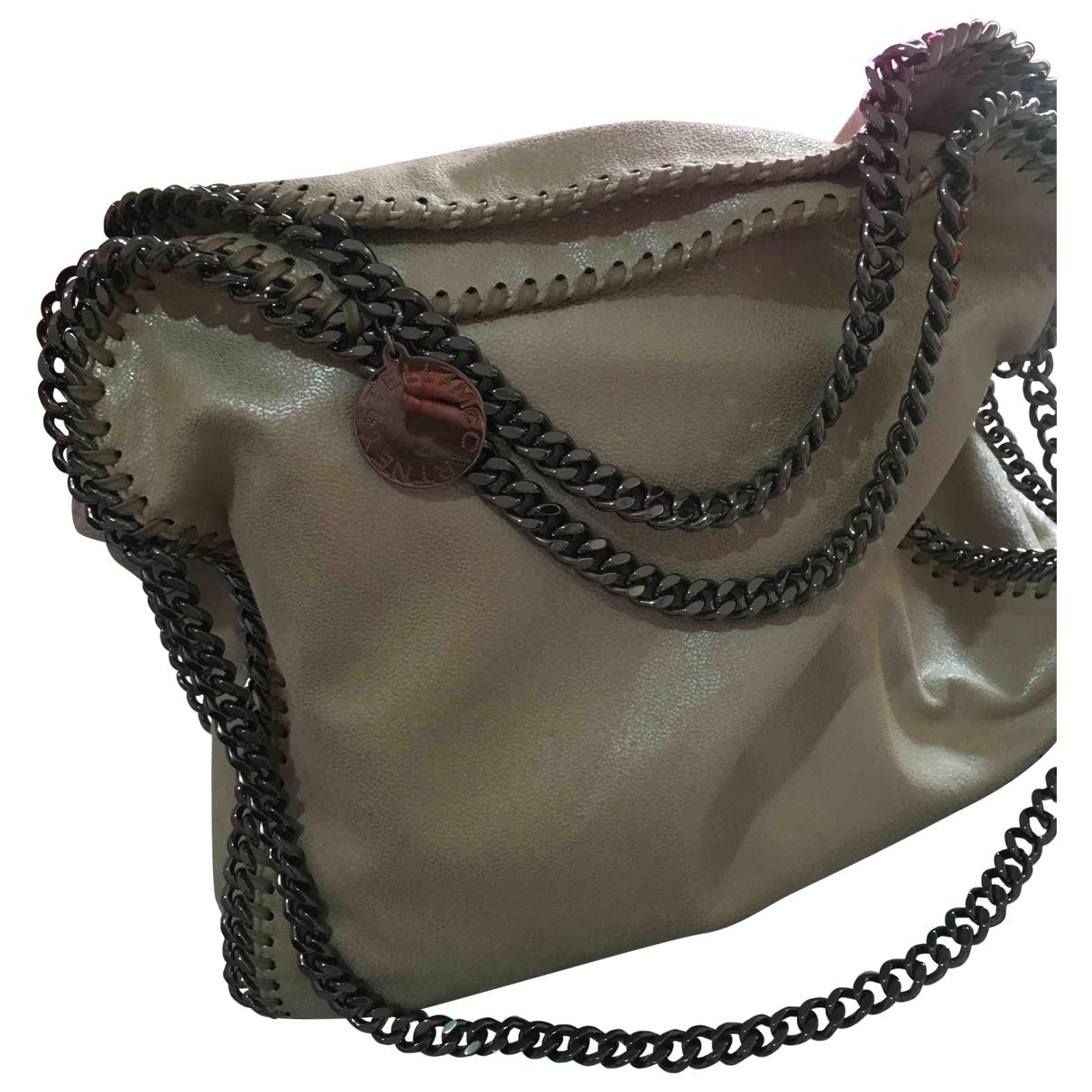 Stella Mccartney Falabella Handtasche in  Beige Leinen