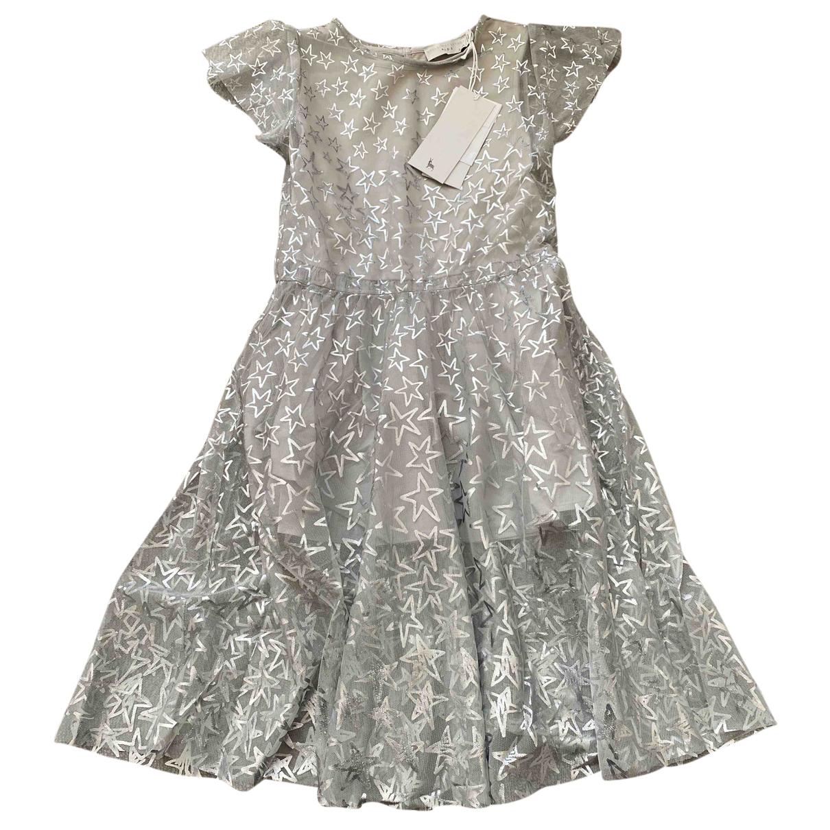 Stella Mccartney Kids - Robe    pour enfant en coton - elasthane - gris